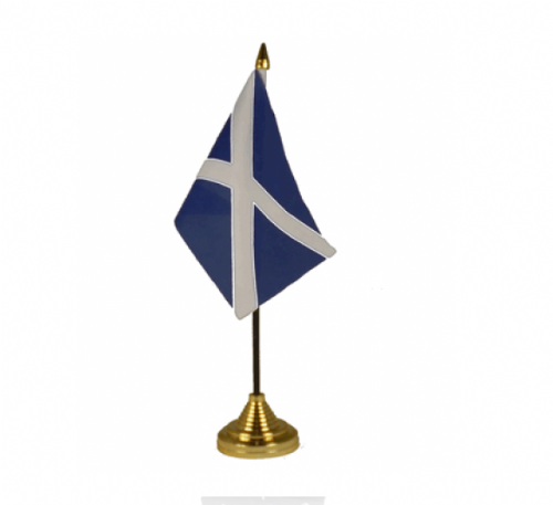 Table Flags - St Andrew - Ideal for Burns Night (packs of 12 flags) - DOES NOT INCLUDE GOLD BASE